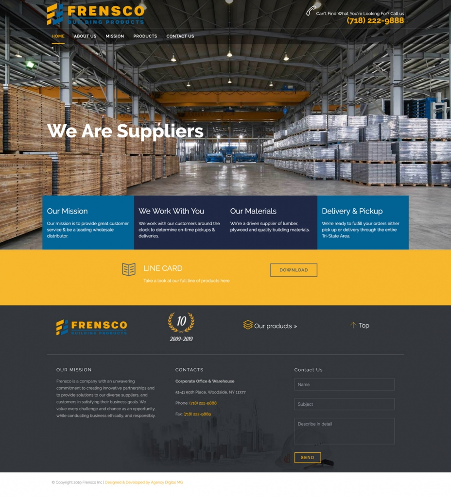 Frensco Building Products - Digital Marketing